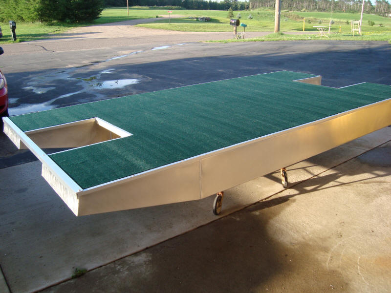 11 FT BY 6 FT WIDE LOGOBOATS YOU BUILD IT SMALL PONTOON