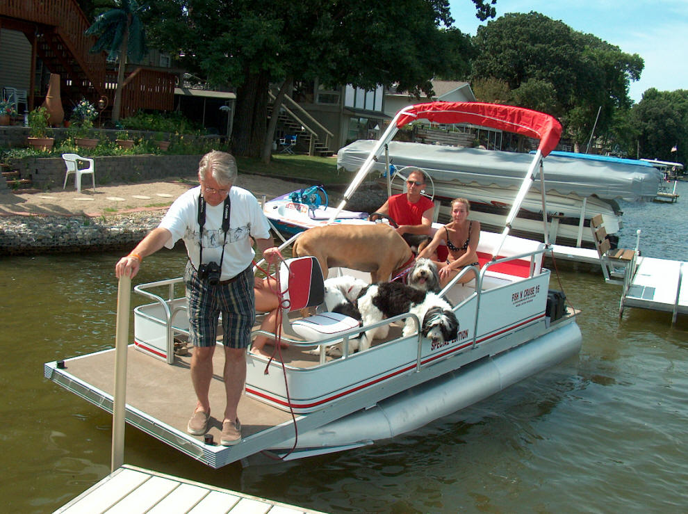 Home page of logoboats 6 foot wide by 16 foot long pontoons for 16 foot aluminum boat motor size