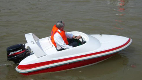 10 Ft Logoboats Racer Mini Power Boat Mouse