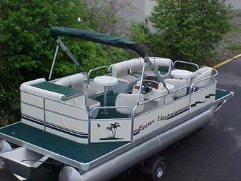 Home Page Of Logoboats 8 Foot Wide By 24 Foot Long Pontoons